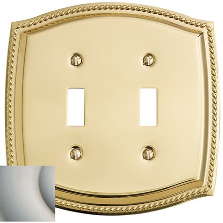 Baldwin 2-Gang Toggle Switch Wall Plate (Baldwin Letterbox Plate Magazine)
