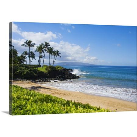 Great BIG Canvas   Ron Dahlquist Premium Thick-Wrap Canvas entitled Hawaii, Maui, Wailea, Beautiful Ulua Beach