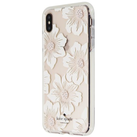 Kate Spade Defensive Hardshell Case for iPhone XS Max - Hollyhock/Cream/Gems (Refurbished)