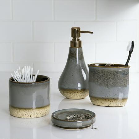 Better Homes & Gardens Reactive Ceramic Covered Jar