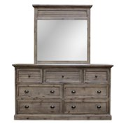 Sunset Trading Solstice Grey 7 Drawer Dresser