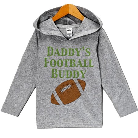 Custom Party Shop Baby Boy's Novelty Football Hoodie Pullover - Grey and Brown / 6 - Football Baby