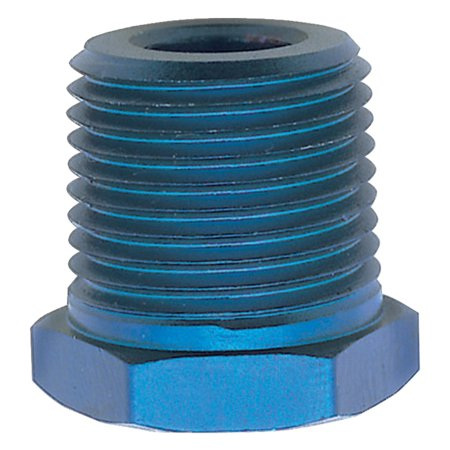 Russell Performance 1/2in Male to 1/4in Female Pipe Bushing Reducer (Blue)