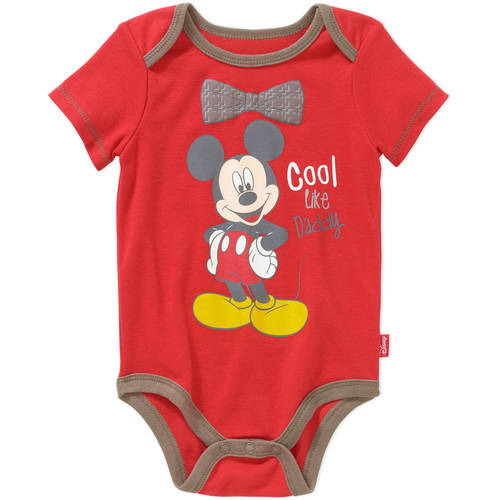 Mickey Mouse Newborn Baby Boy License Body Suit