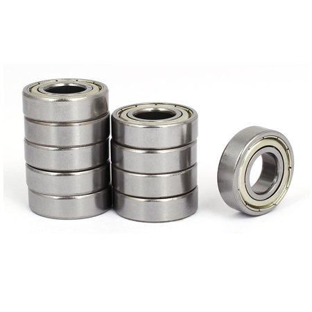 15mmx32mmx9mm 2 Shielded Design Deep Groove Rolling Ball Bearings S6002Z 10pcs - image 4 of 4