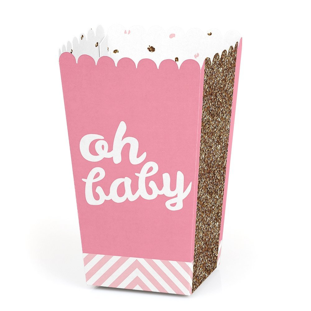 Bridal Shower or Birthday Party Favor Popcorn Treat Boxes Set of 12 Chevron Purple Baby