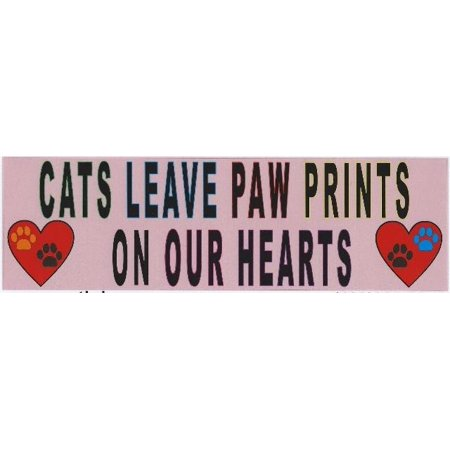 10x3 cats leave paw prints bumper sticker cat window stickers decal car decals