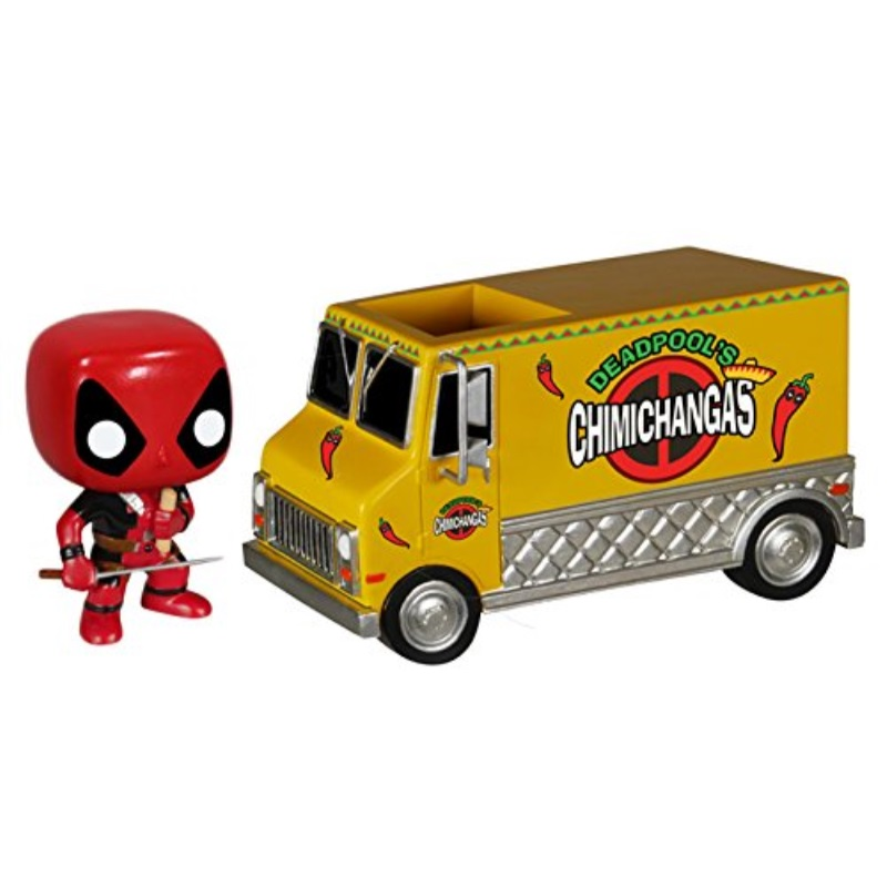 funko pop rides: deadpool's chimichanga truck action figure
