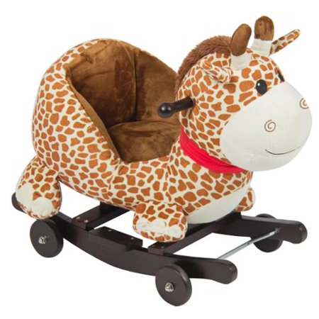 Best Choice Products Kids Giraffe Animal Rocker W Wheels