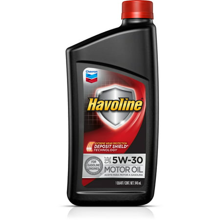 Havoline with deposit shield 5w 30 conventional motor oil for Is havoline motor oil good