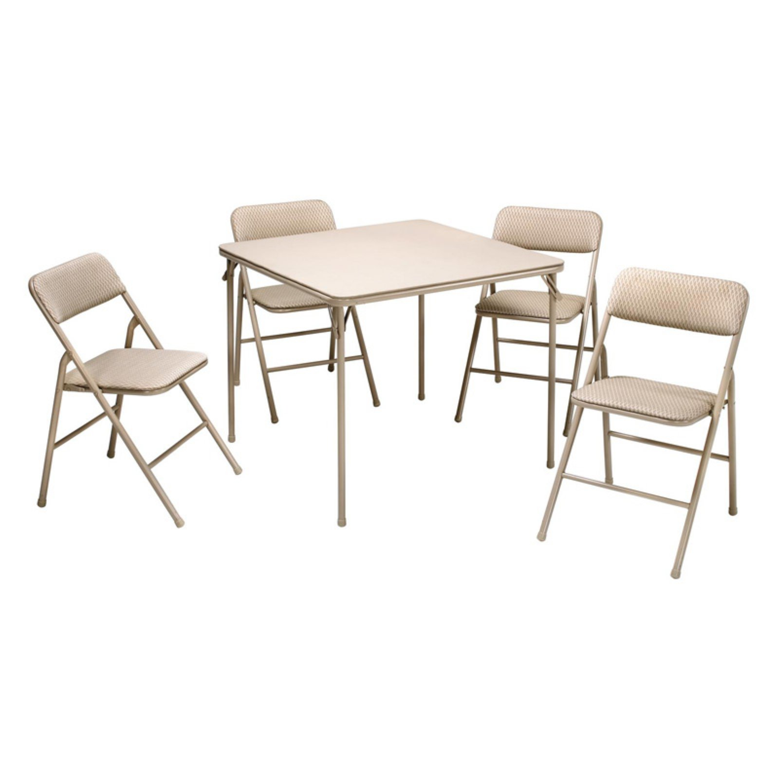 Cosco 34 in. Square Table and Chair Set - Wheat - 5 Pack