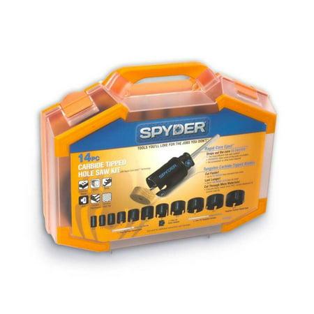 Spyder 14-Piece Carbide Tipped Deep Cut Hole Saw Kit