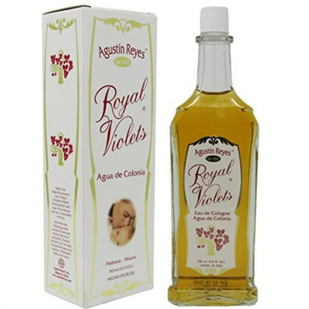 Royal Violets By Agustin Reyes 5 Oz Agua De Colonia Eau De Cologne Glass Bottle