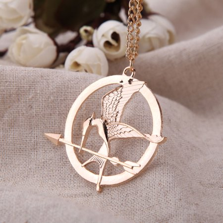- Personalized Vintage Retro Punk Style Hunger Games Bird Pendant Collar Necklace Jewelry Accessory