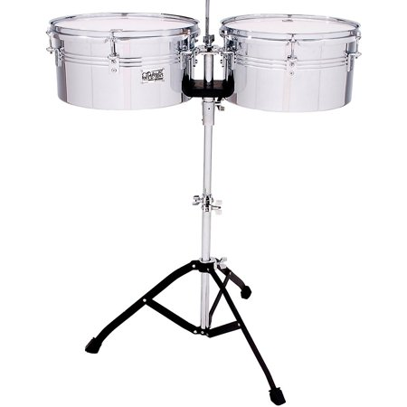 Toca Players Series Timbale Set with 13 and 14 in. steel drums and single braced stand 13 and 14 in.