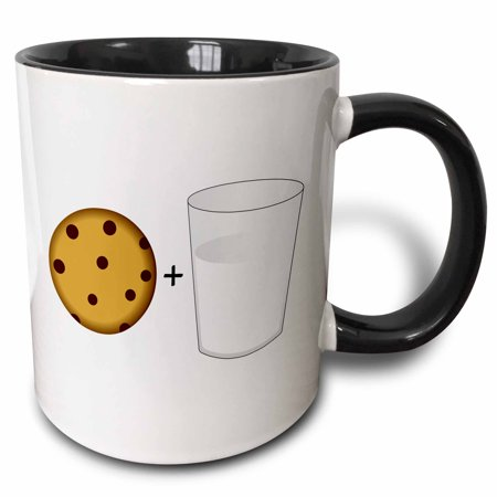 3dRose Cute Cartoon Milk and Chocolate Chip Cookies, Two Tone Black Mug, - Milk Carton Halloween Crafts