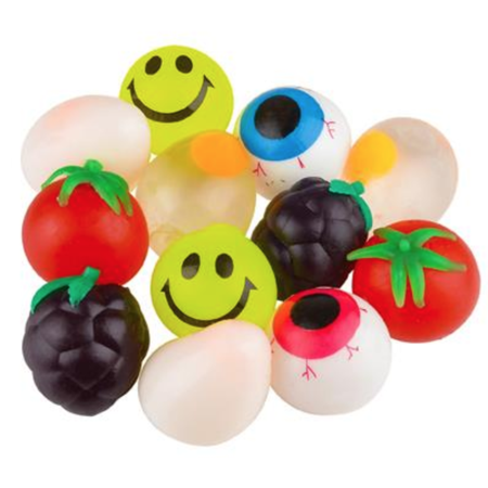 Splat Balls, Set of 5 Sticky Splat Balls in Assorted Designs, Fun Party - Sticky Ball