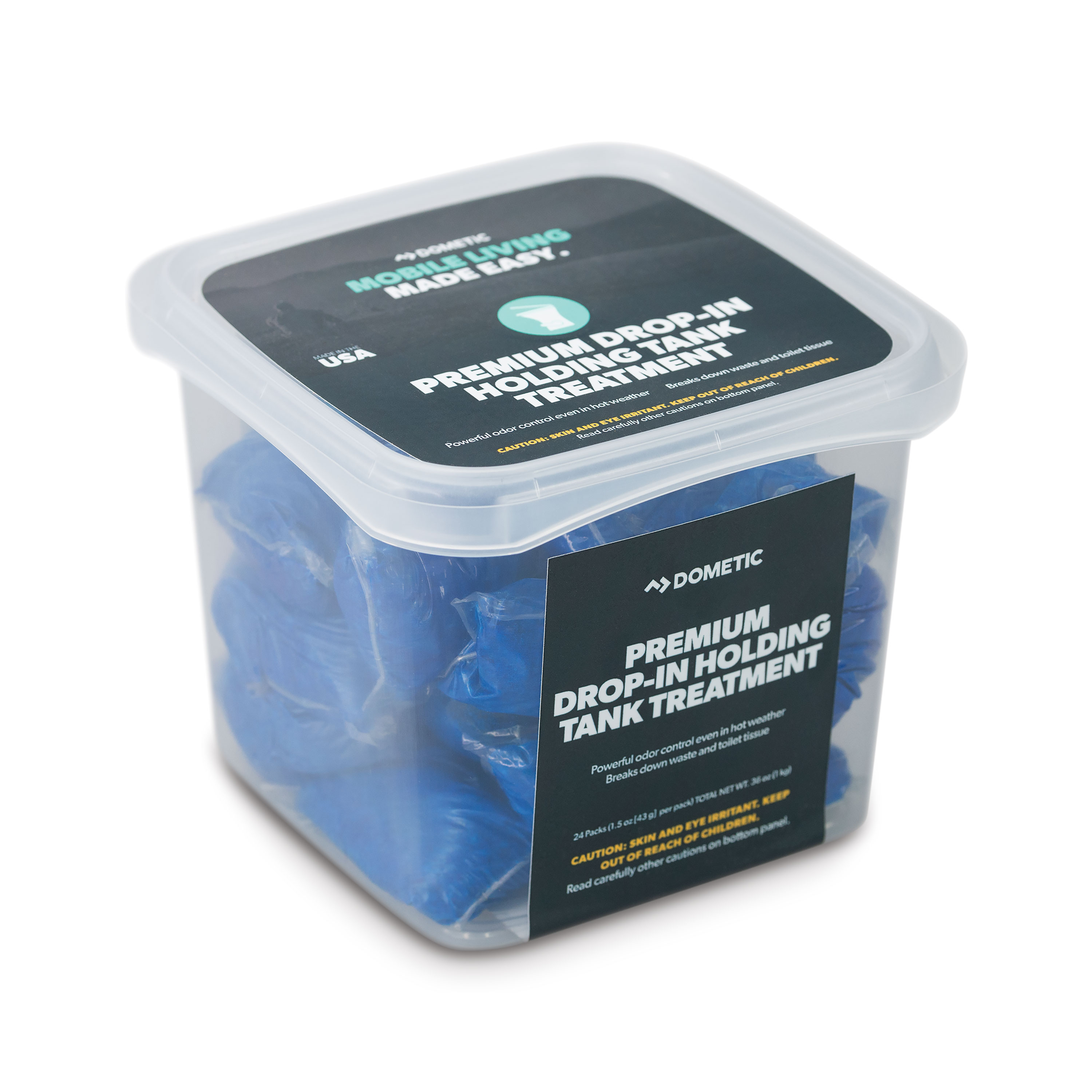 Dometic D1110002 D Line Premium Holding Tank Treatment Drop-In - Pack of 24