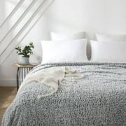 Mainstays Sherpa Queen Bed Blanket in Gray