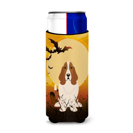 Halloween Basset Hound Michelob Ultra Hugger for slim cans BB4287MUK