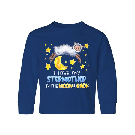 I Love my Stepmother to the Moon and Back Cute Sheep Youth Long Sleeve T-Shirt