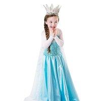 Little Girls Princess Fancy Dress Elsa Costume