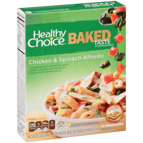 Healthy Choice Baked Chicken & Spinach Alfredo, 8.5 oz
