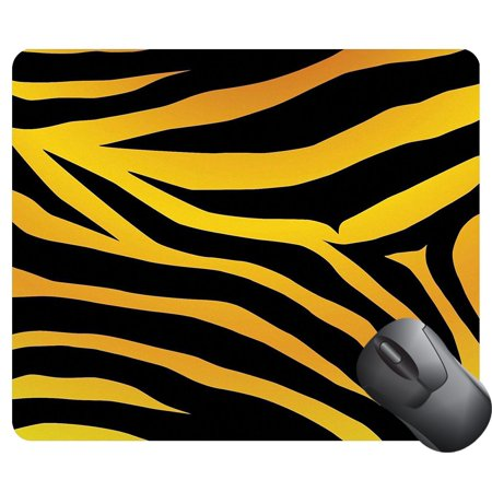 Black Strip Pad (POPCreation Vector black and orange stripped design Mouse pads Gaming Mouse Pad 9.84x7.87 inches )
