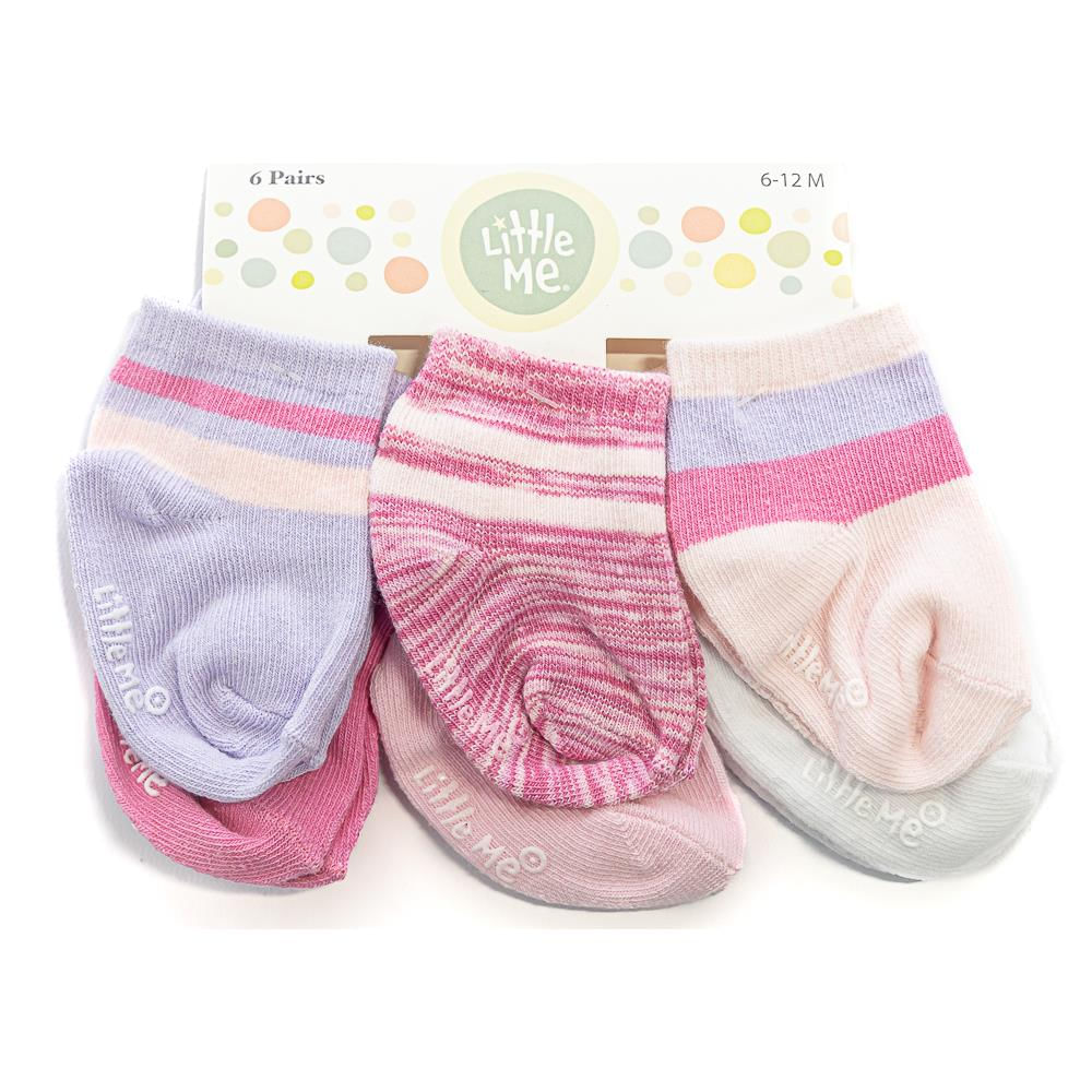 Age 3-4 Years 5 pairs of Girls Pink /& Cream socks