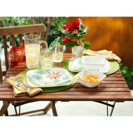 Corelle Happy Days Square Dinnerware Set, 16 (Corelle Microwave Safe Platter)