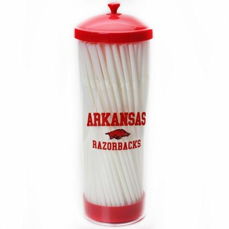 Arkansas Razorbacks 100 Count Straw Dispenser - No Size
