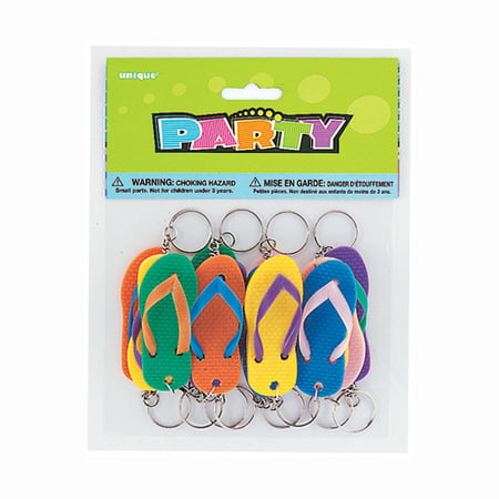 Flip Flop Key Chain Party Favors, 12ct