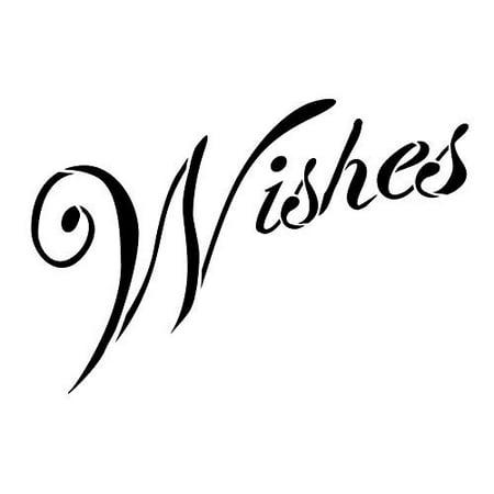 Summer Wishes Banner Stencil - Banner Stencil