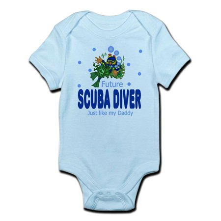 CafePress - Future Scuba Diver Like Daddy Baby Infant Bodysuit - Baby Light Bodysuit