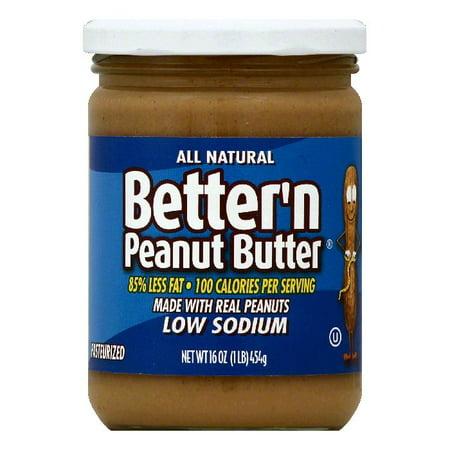 Bettern Low Sodium Peanut Butter, 16 OZ (Pack of 6)](Halloween Peanut Butter Blossoms)