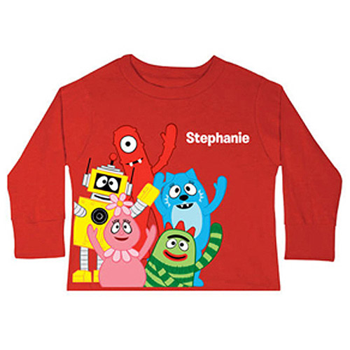 Personalized Yo Gabba Gabba! Friends Toddler Red Long-Sleeve Tee