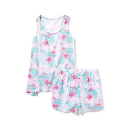 The Children's Place Swing sleeveless tank and sleep short, 2-piece pajama set (little girls & big