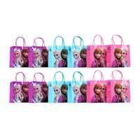 "Party Favors Disney Frozen Elsa, Anna & Olaf Gift Bag- 6"" S Size (12 Packs)"