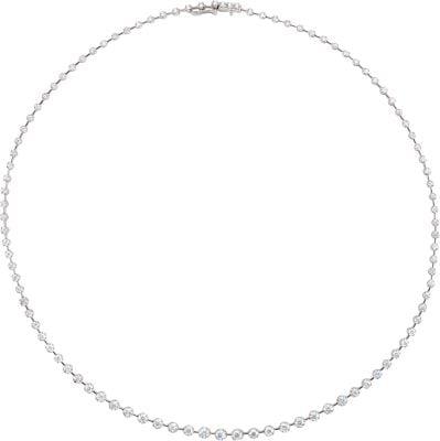 "Diamond Necklace 68226 / 14Kt White / 5 Ct Tw / 18"" / Polished / Diamond Necklace"