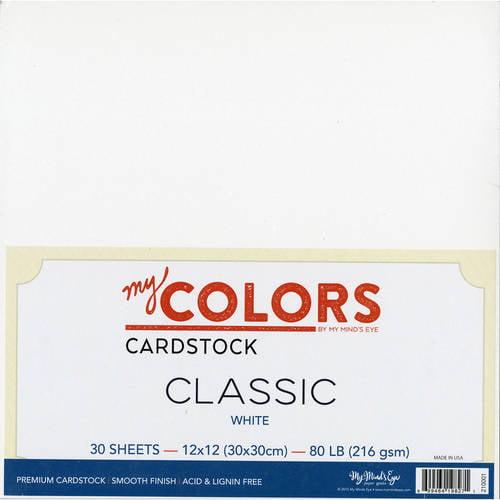 "My Colors Classic Cardstock Bundle, 12"" x 12"", 30pk"