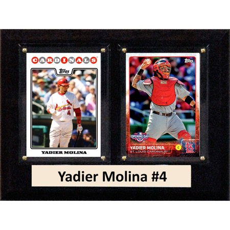 C&I Collectables MLB 6x8 Yadier Molina St. Louis Cardinals 2-Card (Louis Browns Baseball Card)