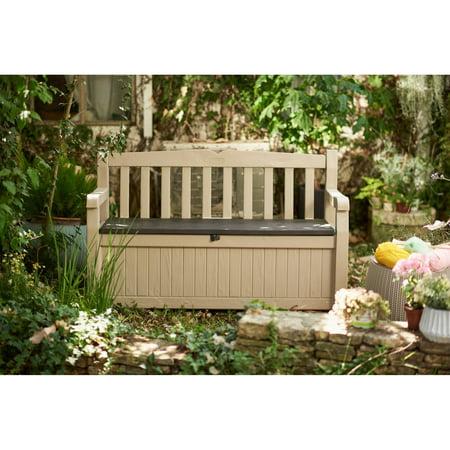 Keter Eden Outdoor Resin Storage Bench All Weather