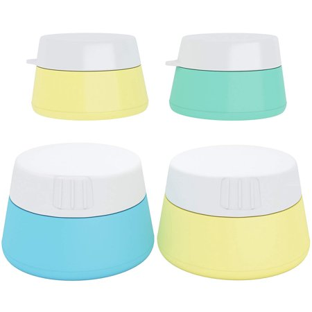 FeelGlad 3Pcs /4ml, 20ml and 10ml Silicone Cream Jars Travel Accessories Containers with Hard Sealed Lids for Face Hand Body Cream