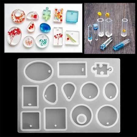 Meigar 128 Pieces Silicone Casting Molds and Tools Set Silicone Resin Mold Casting Epoxy Resin Molds for DIY Jewelry Craft Making - image 2 of 7