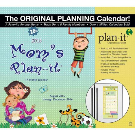 moms plan it plus 17 month 2016 calendar magnetic hanger walmart com