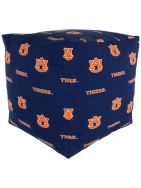 Auburn Tigers Cube Cushion Pouf Chair Bean Bag Ottoman