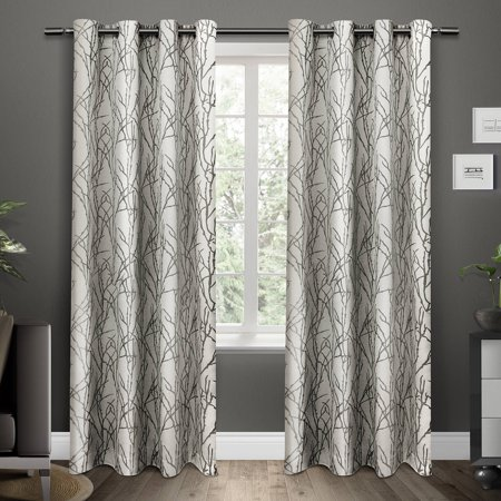 Curtains Ideas 54 curtain panels : Branches Grommet Top Window Curtain Panels, Black Pearl, Set of 2 ...