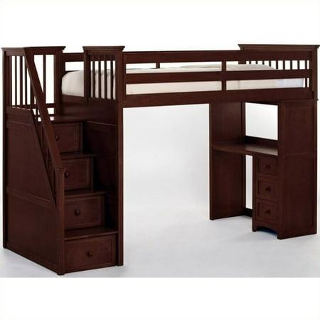 hillsdale school house stair loft with desk end cherry. Black Bedroom Furniture Sets. Home Design Ideas