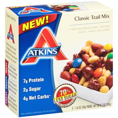 Atkins(tm) Classic Trail Mix, 1.34 oz, 5 count