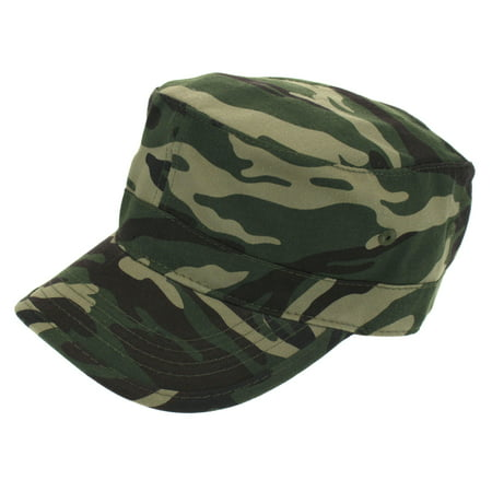 Mens Camoulage Cotton Twill Field Cap Army Green -